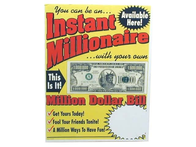 TMS Million Dollar Bill Counter Card for POP