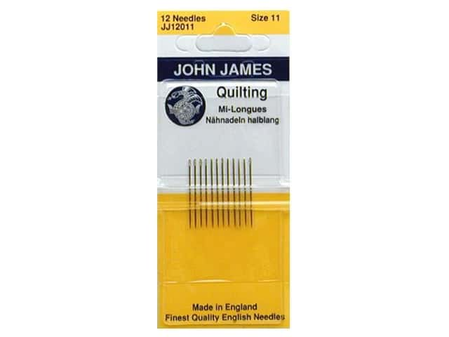 John James Quilting Needles Size 11 12 pc.