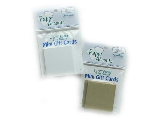 2 1/2 x 2 1/2 in. Mini Cards by Paper Accents 10pc White