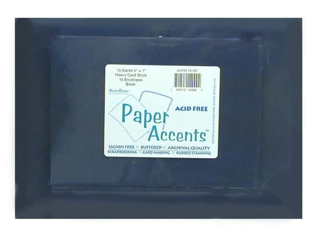 Paper Accents 5 x 7 in. Blank Card & Envelopes 25 pc. #127 Black