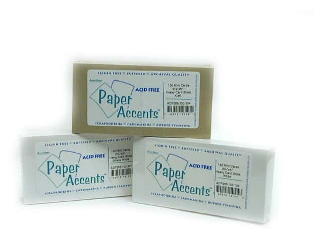 2 1/2 x 5 in. Mini Cards by Paper Accents 100 pc. White