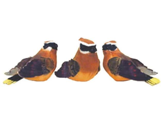 Accent Design Artificial Bird 3 1/2 in. Jay Orange/Brown/Bk/Wh 1 pc.