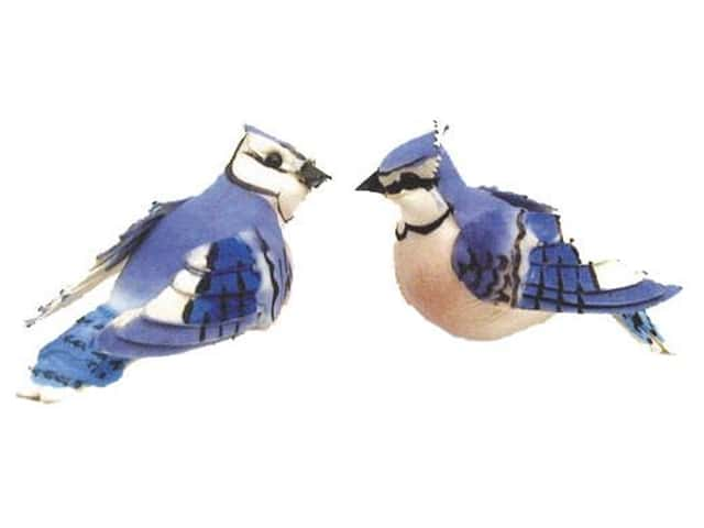 Accent Design Artificial Bird 2 5/8 in. Blue Jay Blue/Wh/Bk 1 pc.