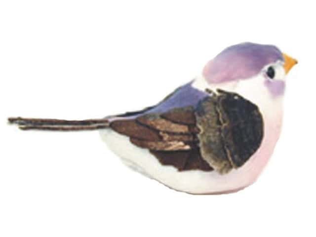 Accent Design Artificial Bird 3 in. Mountain Bluebird White/Brown 1 pc