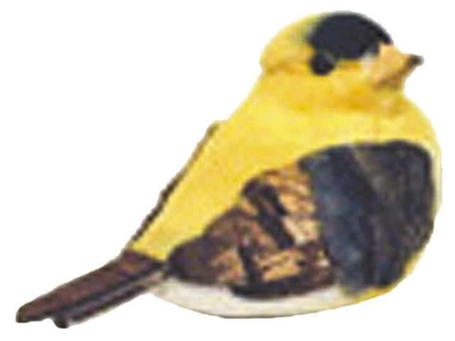 Accent Design Artificial Bird 2 3/4 in. Chickadee Yellow/Brown Feather 1 pc.