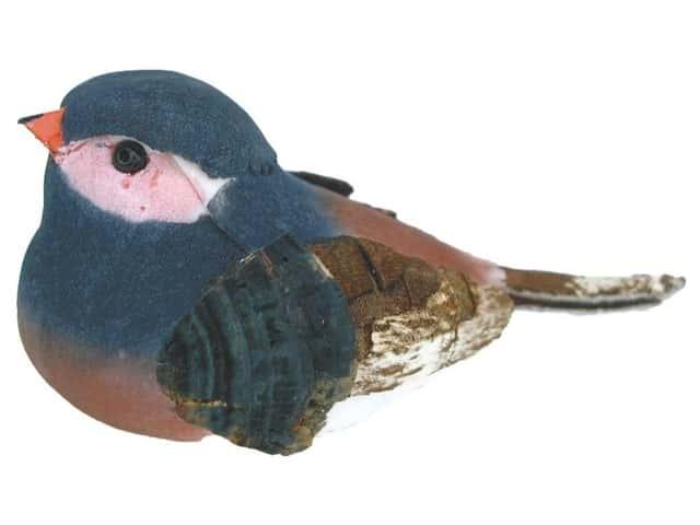 Accent Design Artificial Bird 2 1/2 in. Chickadee Blue/Pink/Brown 1 pc.