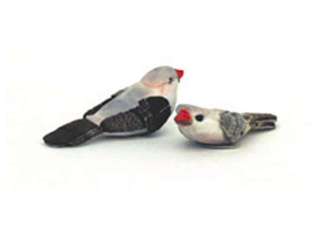 Accent Design Artificial Bird 1 1/2 in. Bluebird White/Black 2 pc.
