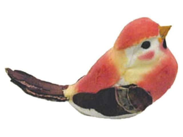 Accent Design Artificial Bird 3 in. Songbird Rose/Yellow/Brown 1 pc.