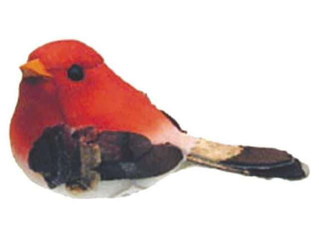 Accent Design Artificial Bird 2 3/4 in. Chickadee Red/Brown 1 pc.