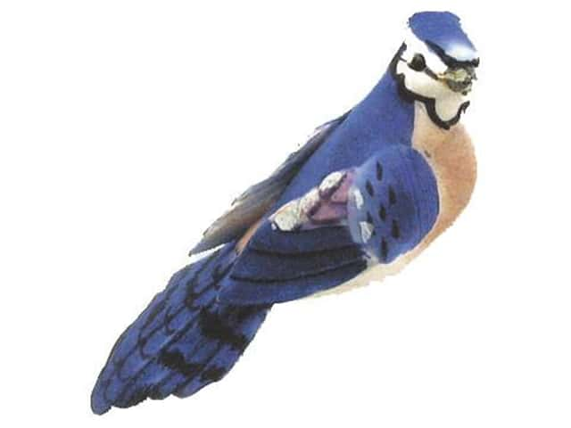 Accent Design Artificial Bird 3 3/4 in. Blue Jay Wh/Peach/Blue 1 pc.