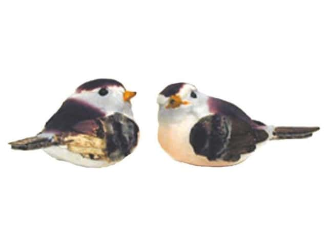 Accent Design Artificial Bird 2 1/4 in. Brambling Wh/Plum/Peach 1pc.