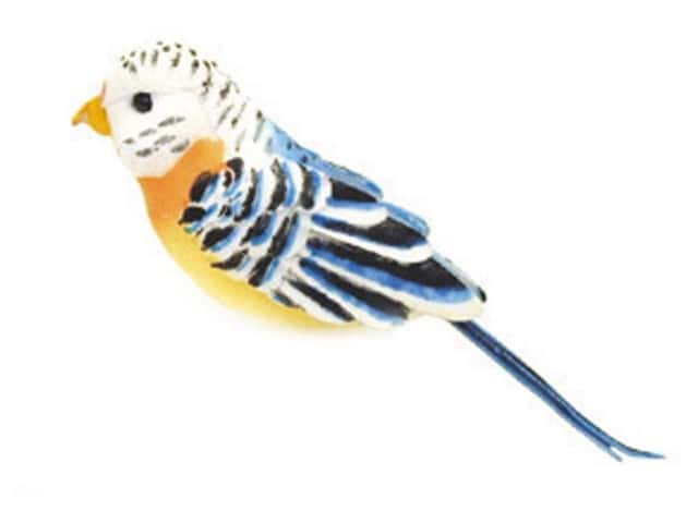 Accent Design Artificial Bird 4 3/4 in. Parakeet Peach/White Feather 1 pc.