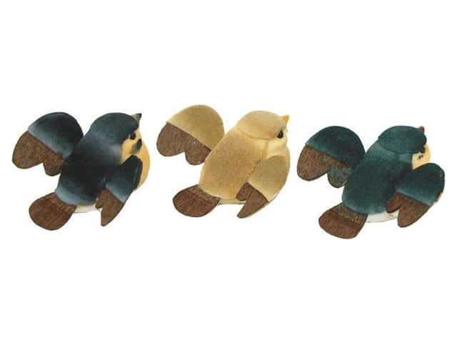 Accent Design Artificial Bird 2 in. Baby Bird Asst Cream/Brown 3 pc.