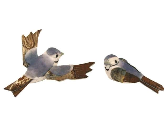 Accent Design Artificial Bird 2 1/4 in. Bluebird Blue/White/Brown 2 pc.