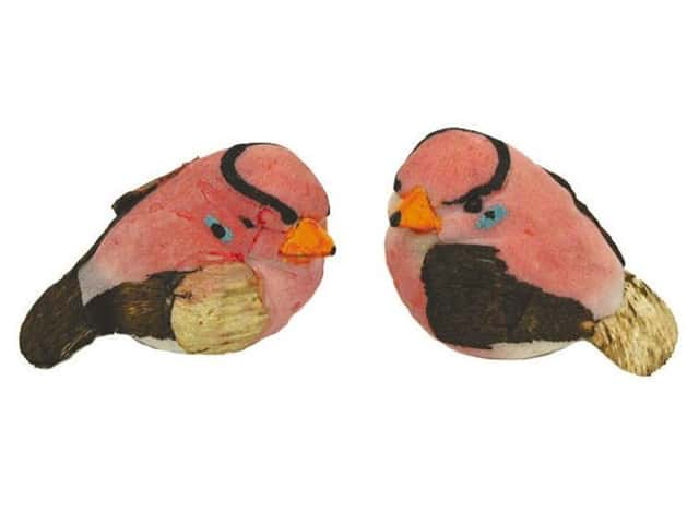 Accent Design Artificial Bird 1 3/4 in. Finch Pink/Brown 2 pc.