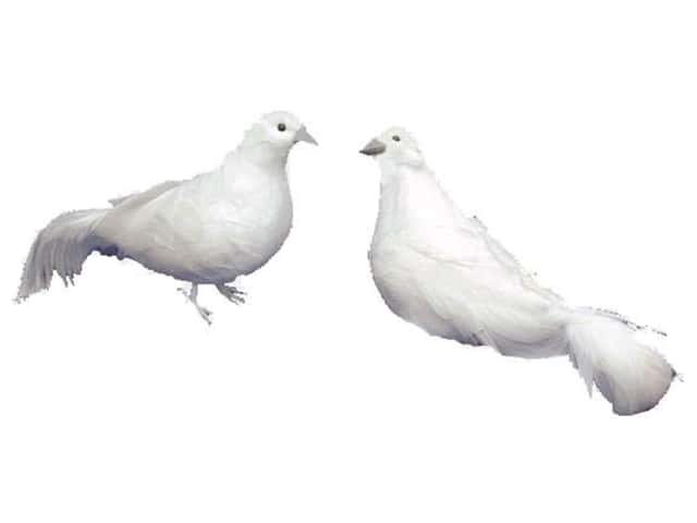 Accent Design Artificial Bird 7 1/2 in. Dove White Feather 1 pc.