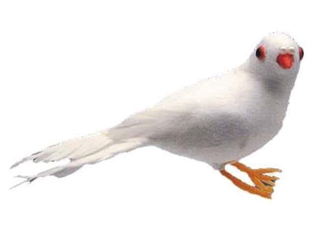 Accent Design Artificial Bird 4 1/4 in. Dove White Feather 1 pc.