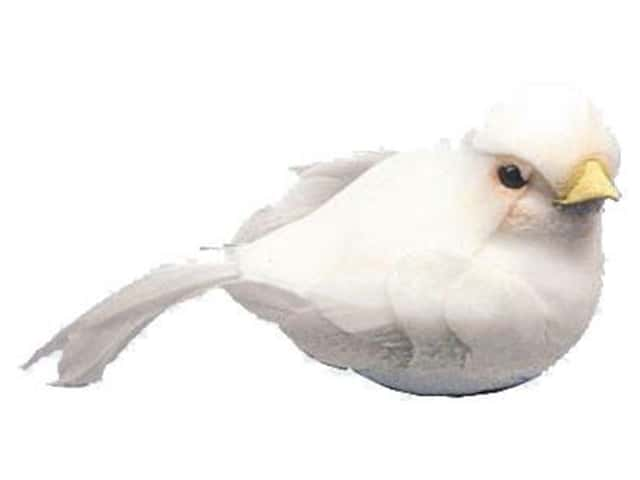 Accent Design Artificial Bird 2 3/4 in. Dove White Feather 1 pc.