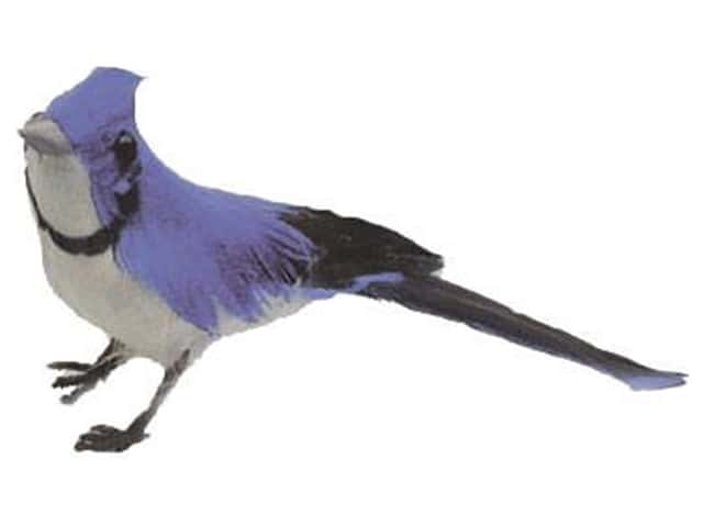 Accent Design Artificial Bird 4 in. Bluejay Blue/White/Black Feather 1 pc.