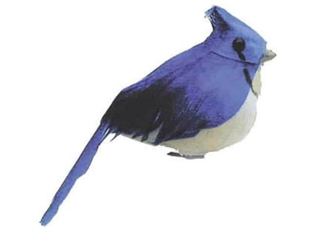Accent Design Artificial Bird 2 3/4 in. Blue Jay Blue/White Feather 1 pc.