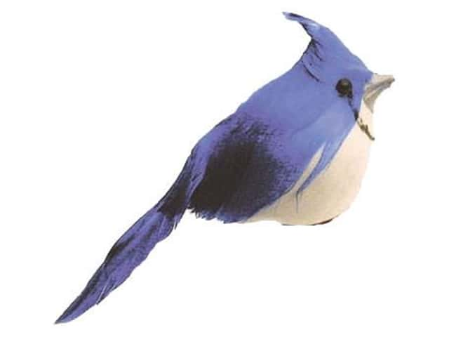 Accent Design Artificial Bird 4 in. Blue Jay Bk/Blue Feather 1 pc.
