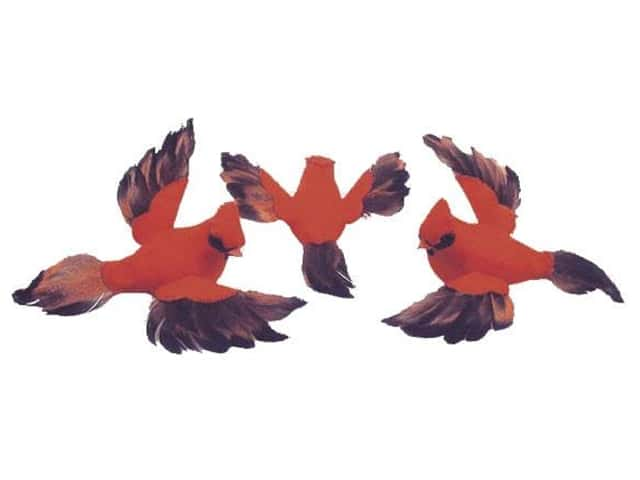 Accent Design Artificial Bird 4 1/2 in. Cardinal Red/Grey Feather 1 pc.