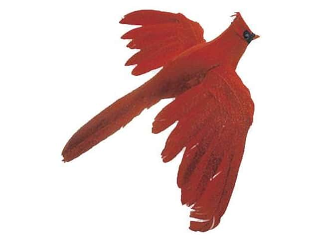 Accent Design Artificial Bird 6 1/2 in. Red/Black Feather 1 pc.