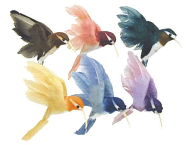 Accent Design Artificial Bird 2 in. Hummingbird Assorted Color Feather 1 pc.