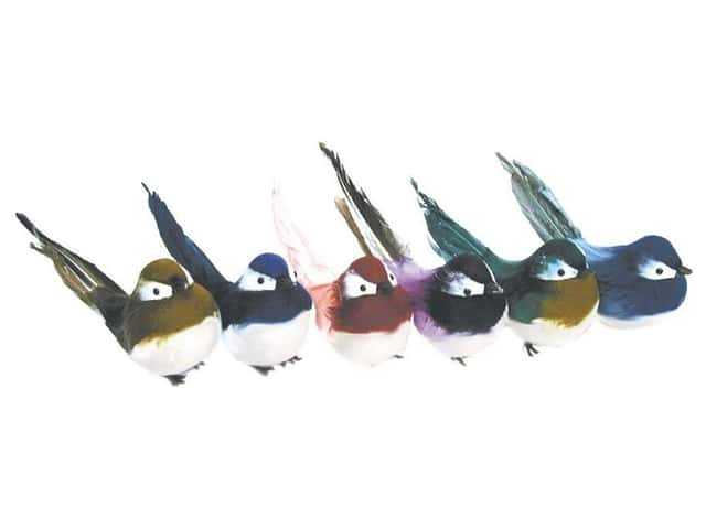 Accent Design Artificial Bird 5 in. Robin Asst Color Feather 1 pc.
