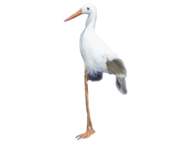 Accent Design Artificial Bird 6 1/2 in. Stork White/Brown Feather 1 pc.