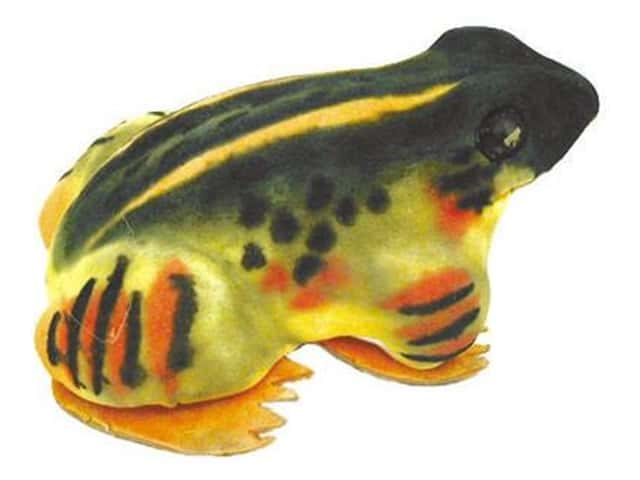 Accent Design Artificial Frog 3 in. Green/Yellow/Orange 1 pc.