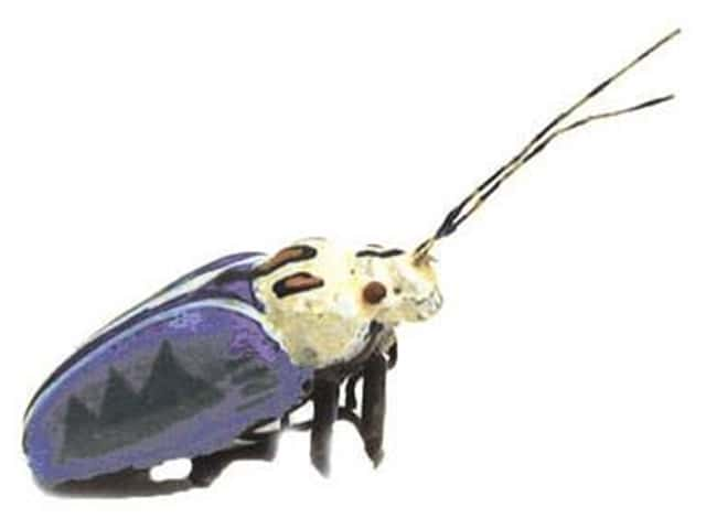 Accent Design Artificial Insect 1 1/4 in. Blue/Black/White 1 pc.