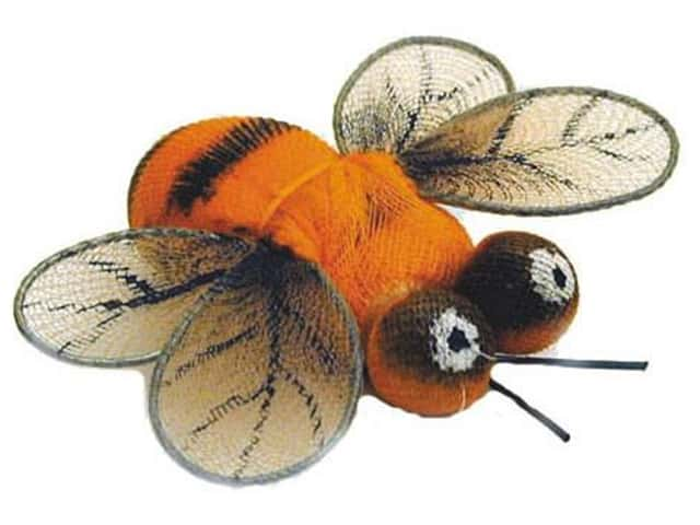 Accent design artificial bee 1 1 2 in orange black brown for Artificial bees for decoration