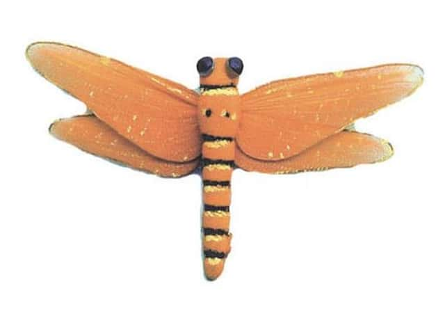 Accent Design Artificial Dragonfly 5 in. Orange/Black 1 pc.