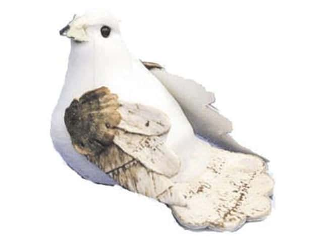 Accent Design Artificial Bird 2 in. Dove White/Brown 1 pc.