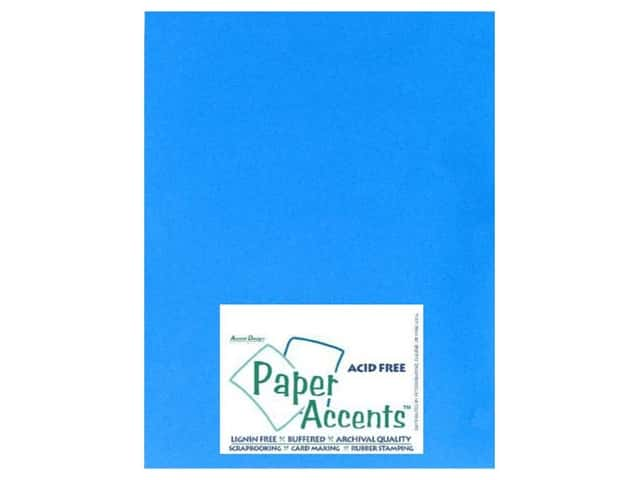 Cardstock 8 1/2 x 11 in. #103 Smooth Blue by Paper Accents (25 sheets)