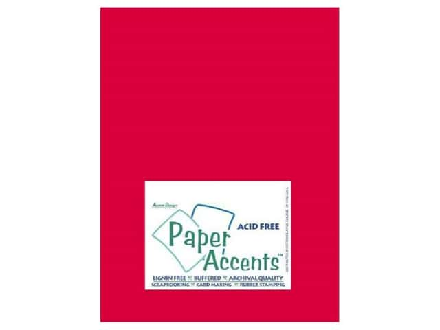 Cardstock 8 1/2 x 11 in. #412 Linen Red Pepper by Paper Accents (25 sheets)