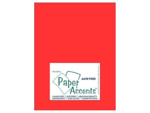 Vellum 8 1/2 x 11 in. #916 Red by Paper Accents (25 sheets)
