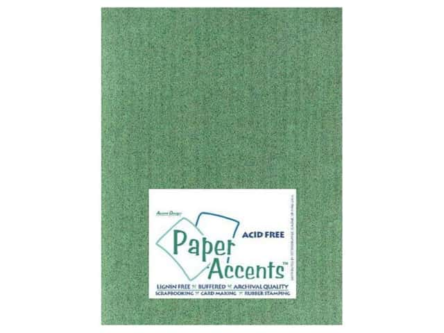 Cardstock 8 1/2 x 11 in. #408  Linen Dark Sage by Paper Accents (25 sheets)