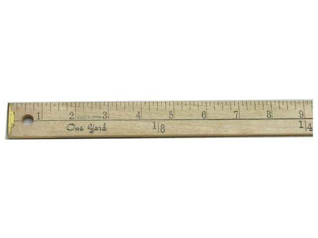 Yardstick by Dritz 1/4 in. Thick Wood with Metal Tips (6 pieces)