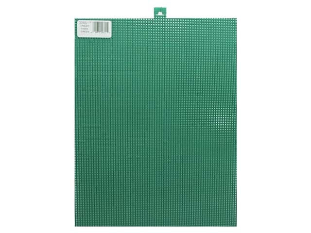 Darice Plastic Canvas #7 Mesh 10 1/2 x 13 1/2 in. Christmas Green