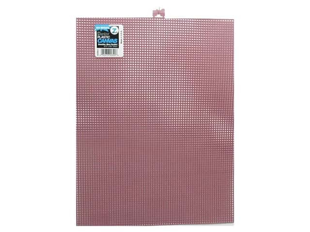 Darice Plastic Canvas #7 Mesh 10 1/2 x 13 1/2 in. Pink
