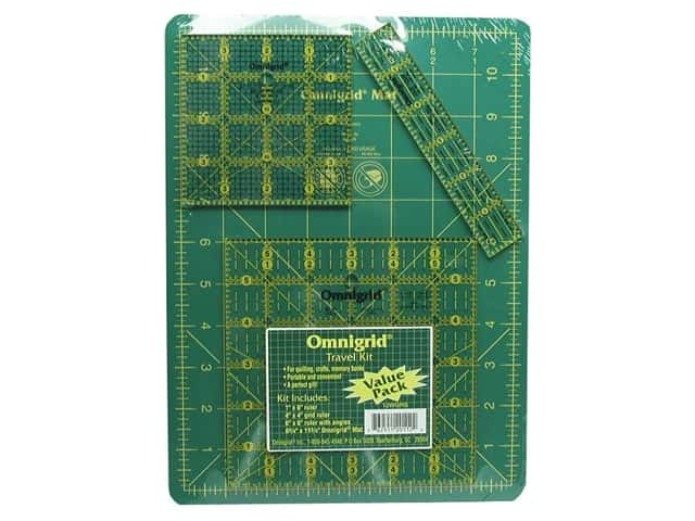 Omnigrid Mat & Ruler Travel Kit 8 3/4 x 11 3/4 in.