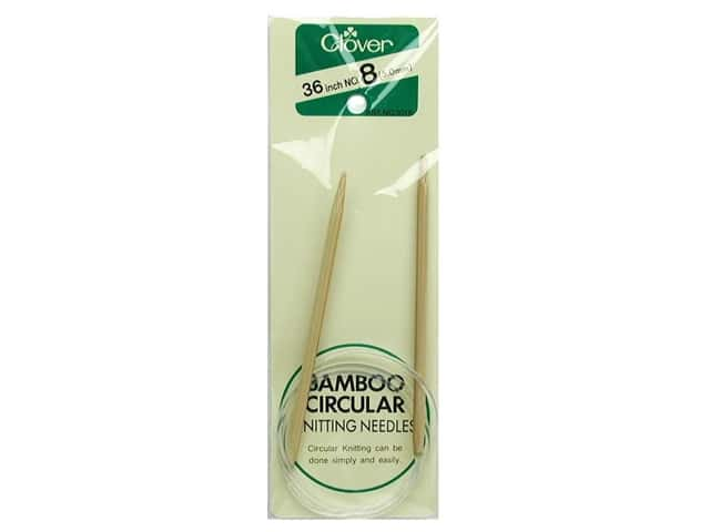 Clover Bamboo Circular Knitting Needles 36 in. Size 8 (5 mm)