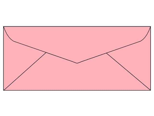 Paper Accents 4 x 9 1/4 in. Letter Envelopes 25 pc. #124 Light Pink
