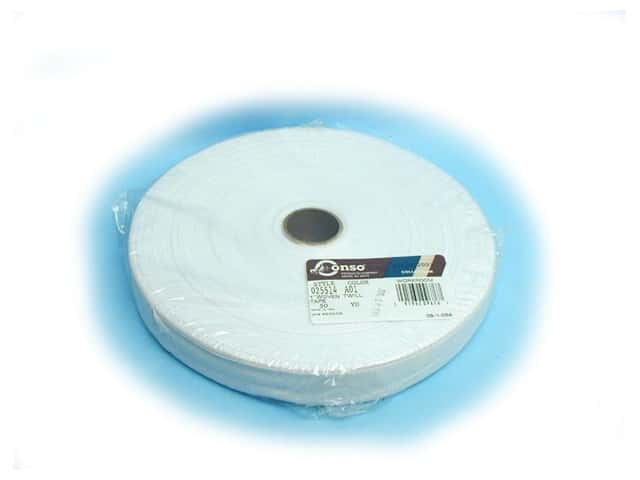 "Conso Polyester Twill Tape 1"" White (144 yards)"