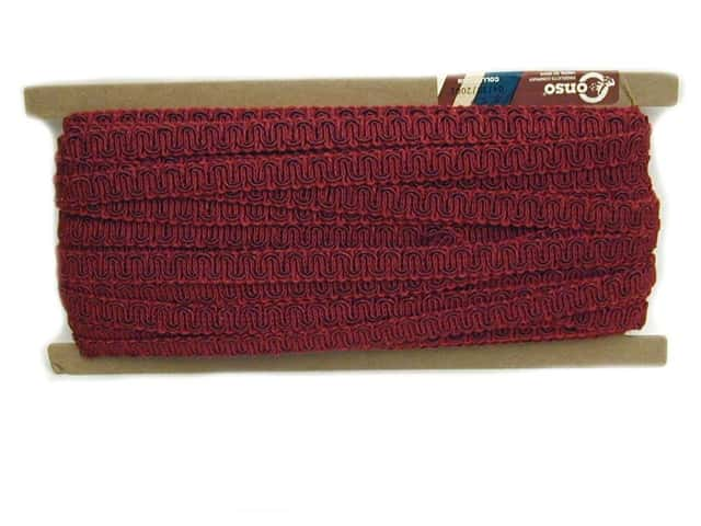Conso Princess Scroll Gimp 1/2 in. x 36 yd. Ruby (36 yards)