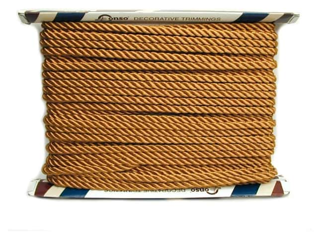 "Conso Princess Twisted Cord 3/8"" Gold (24 yards)"