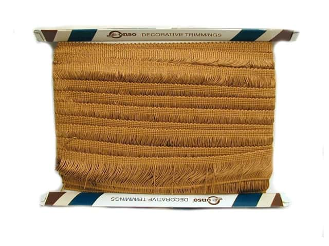 Conso Princess Chainette Fringe 2 in. Old Gold (18 yards)
