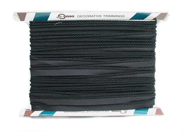 Conso Princess Cord with Lip 3/16 in. x 24 yd. Black (24 yards)